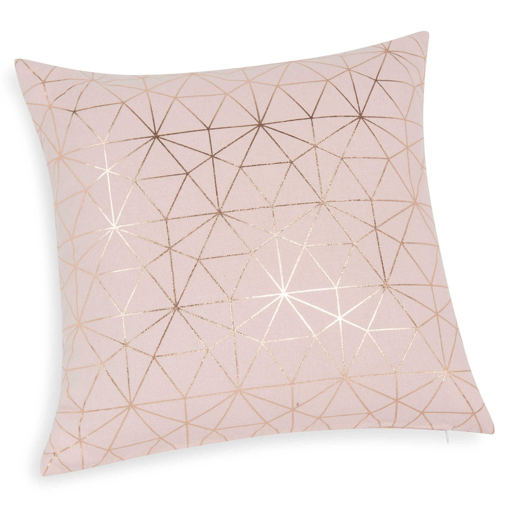 Magix pink cotton cushion cover 40 x 40 cm maisons du monde for Housse de coussin 55x55