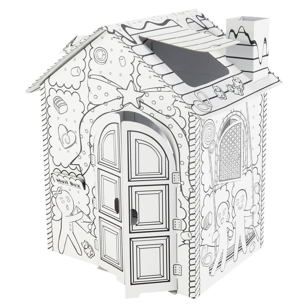 Maison candy maisons du monde - Cabane en carton a colorier ...