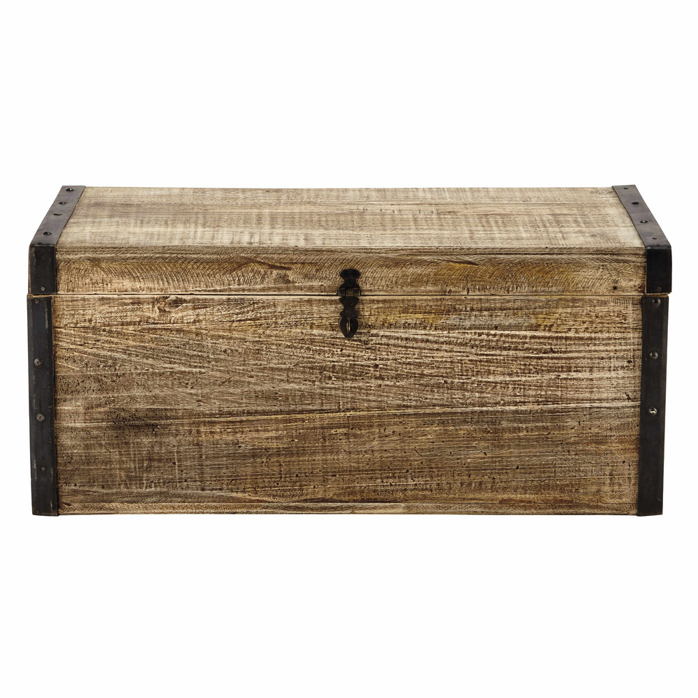 Malle en bois l 80 cm kaelig maisons du monde for Maison du monde 4x sans frais