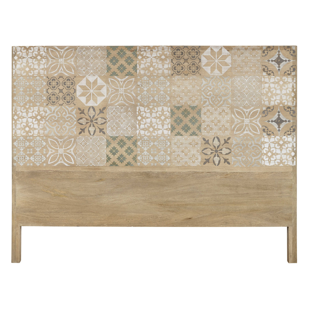 Mango wood 160 headboard leopoldine maisons du monde for Maison de monde uk