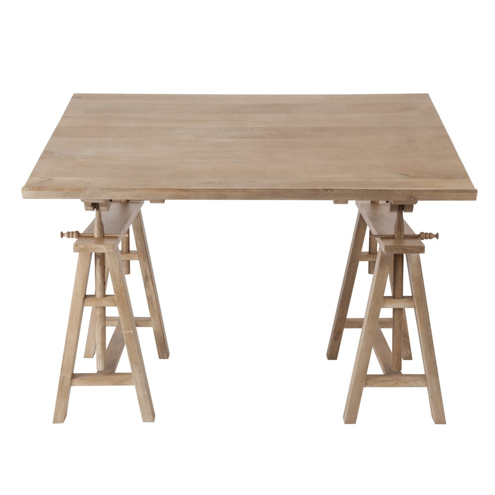 Mango Wood Architect S Desk W 130cm Key West Maisons Du