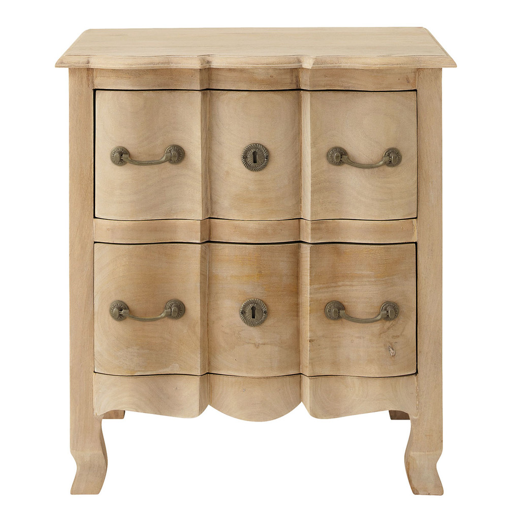 mango wood bedside table with drawers w 54cm colette maisons du monde. Black Bedroom Furniture Sets. Home Design Ideas