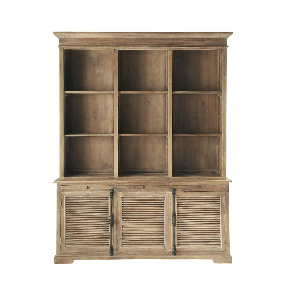 Mango wood bookcase W 170cm Persiennes   Maisons du Monde