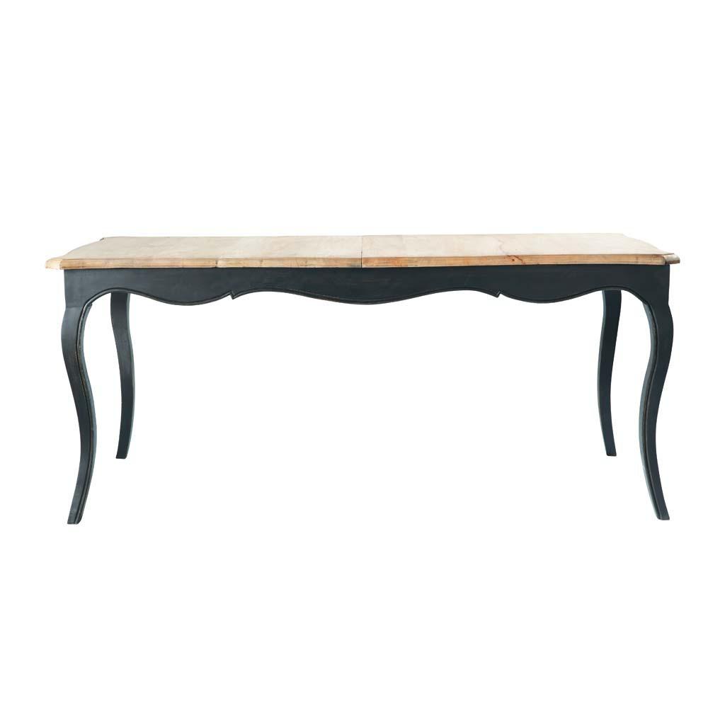 Mango wood extending dining table w 180cm versailles maisons du monde - Extending wood dining table ...