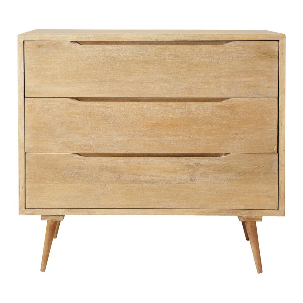 Mango wood vintage chest of drawers w 95cm trocadero for Maison de monde uk