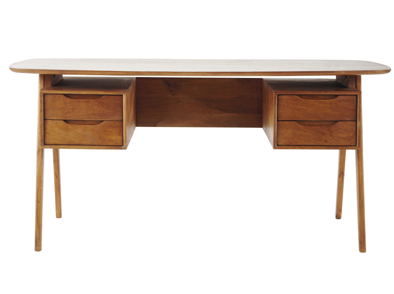 Mango wood vintage desk janeiro maisons du monde