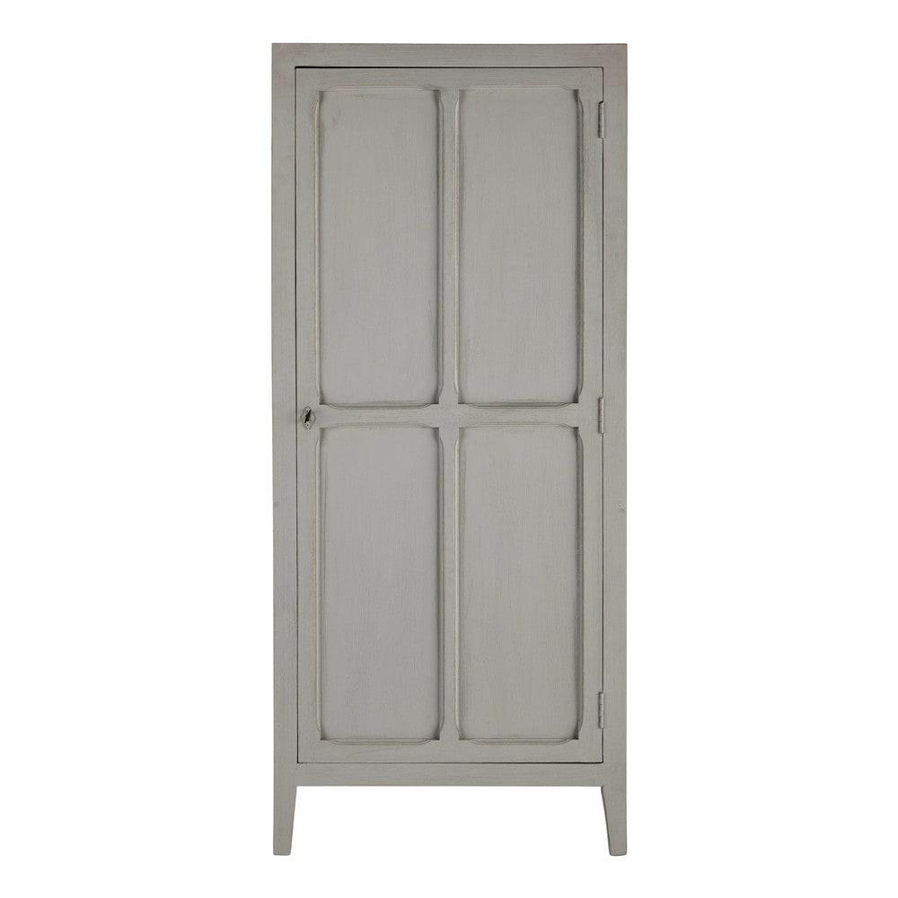 Mango wood wardrobe in grey w 75cm pensionnat maisons du monde - Etagere porte coulissante ...