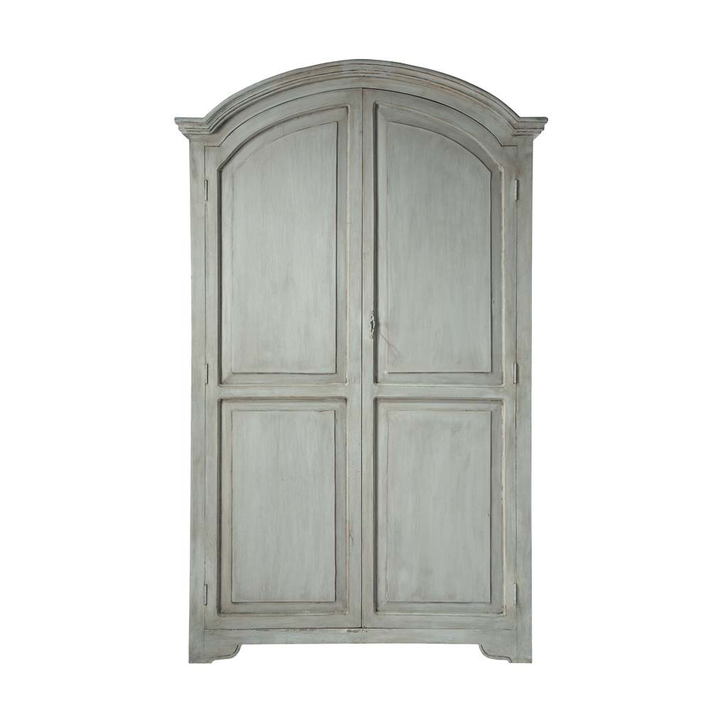 Mango wood wardrobe in pearl grey w 130cm saint r my - Armoire maison du monde occasion ...