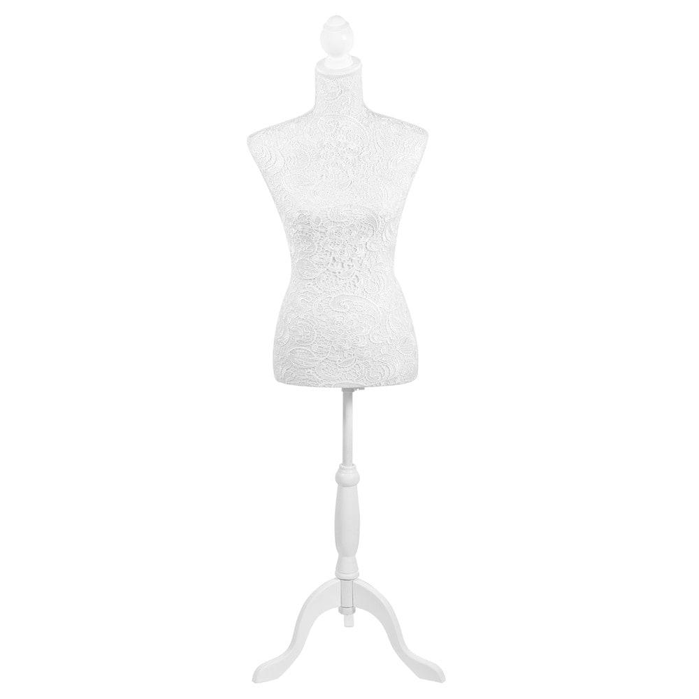 mannequin couture blanc h 160 cm dentelle maisons du monde. Black Bedroom Furniture Sets. Home Design Ideas