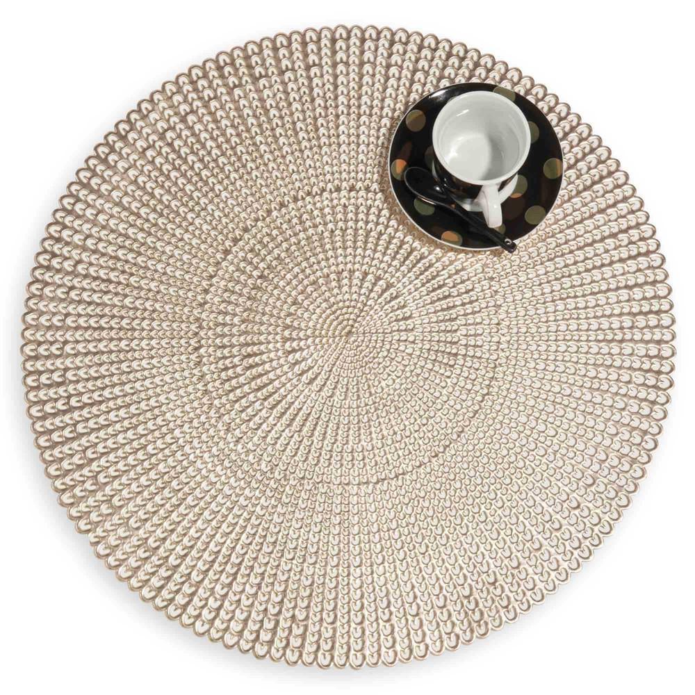 mantel individual calado dorado d 41 cm c leste maisons du monde. Black Bedroom Furniture Sets. Home Design Ideas