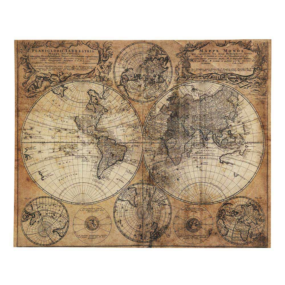 Mappemonde antiqued canvas 73 x 93cm maisons du monde for Maison de monde uk