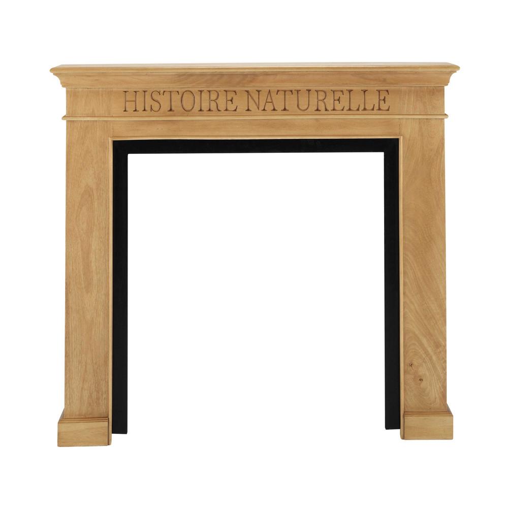 marco de chimenea de mango y metal an 110 cm naturaliste naturaliste maisons du monde. Black Bedroom Furniture Sets. Home Design Ideas