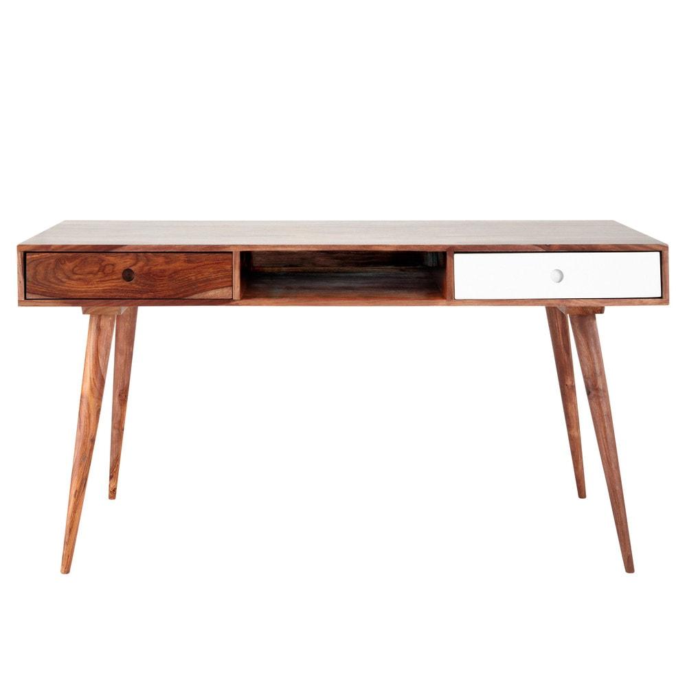 Massief sheesham houten vintage bureau andersen maisons du monde - Massief sheesham ...