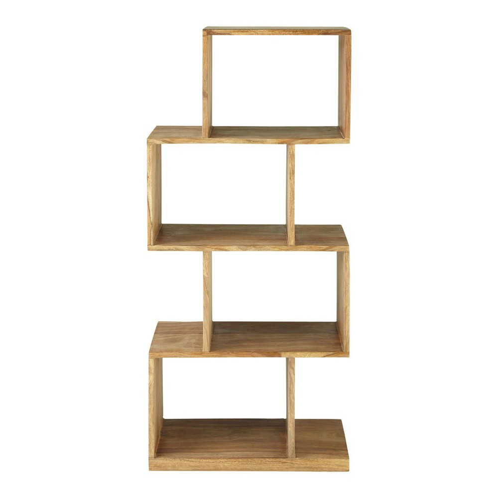 Massief sheeshamhouten opbergrek 4 vakken stockholm - Estanterias de madera para libros ...