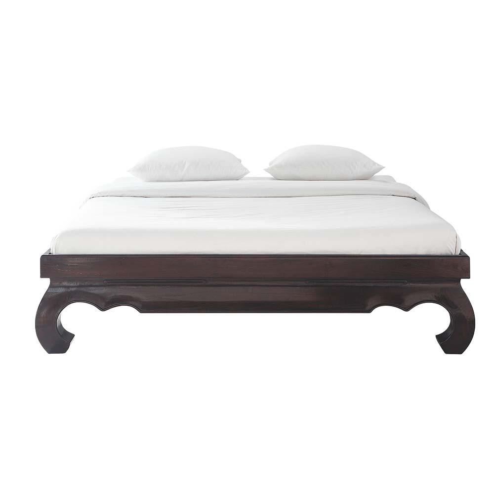 massief teakhouten bed 160 x 200 cm opium maisons du monde. Black Bedroom Furniture Sets. Home Design Ideas