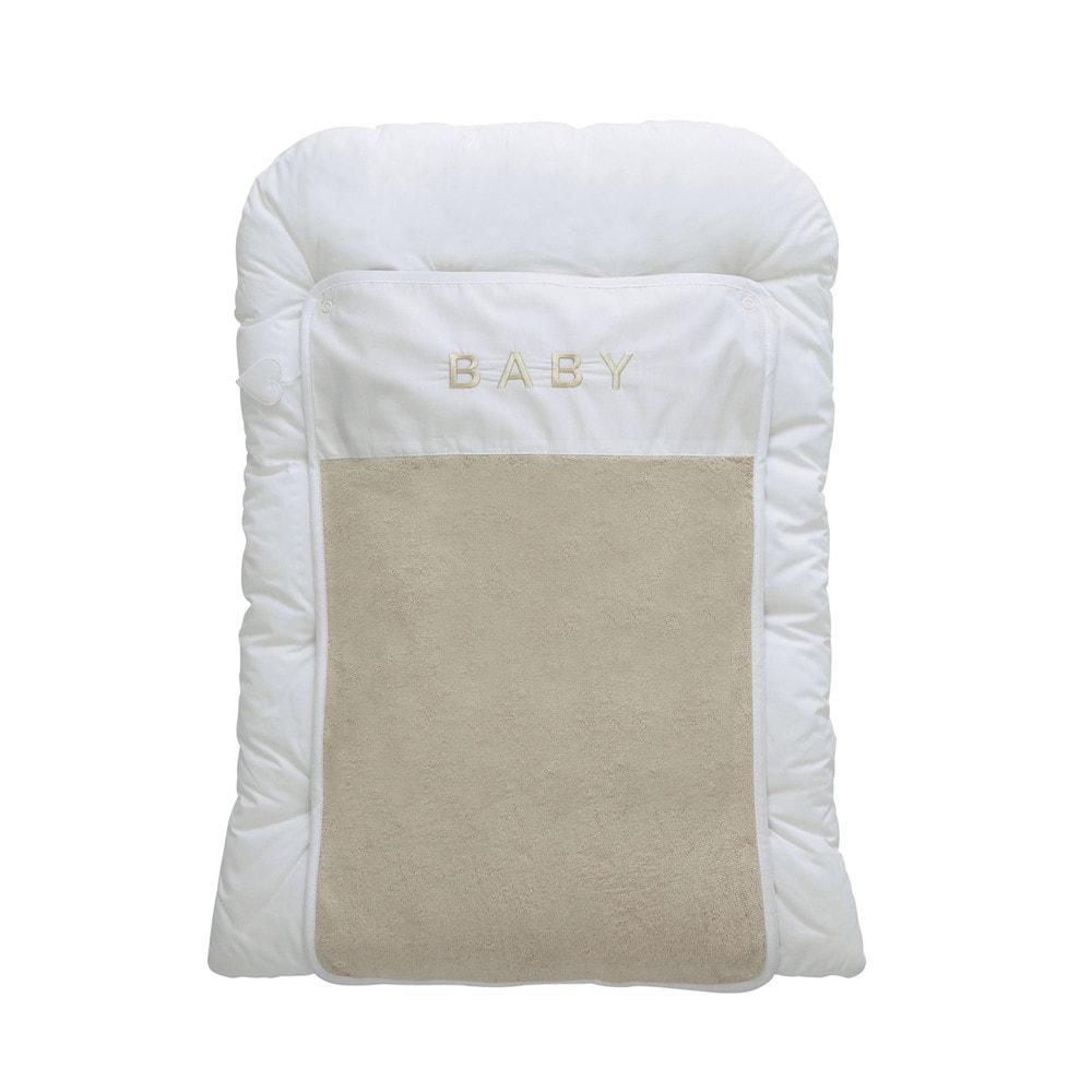 matelas langer b b en coton beige blanc 52 x 70 cm pastel maisons du monde. Black Bedroom Furniture Sets. Home Design Ideas