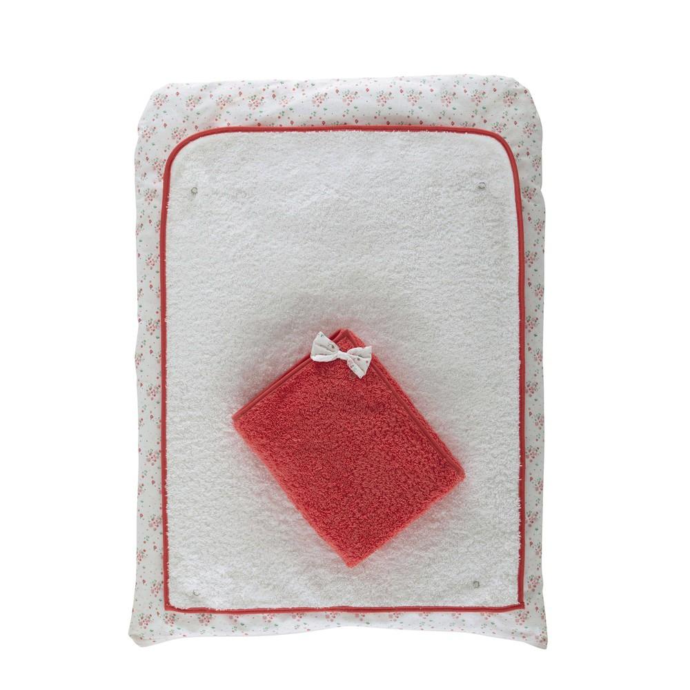 Matelas langer b b en coton blanc 52 x 70 cm coquette for Table a langer 52 cm