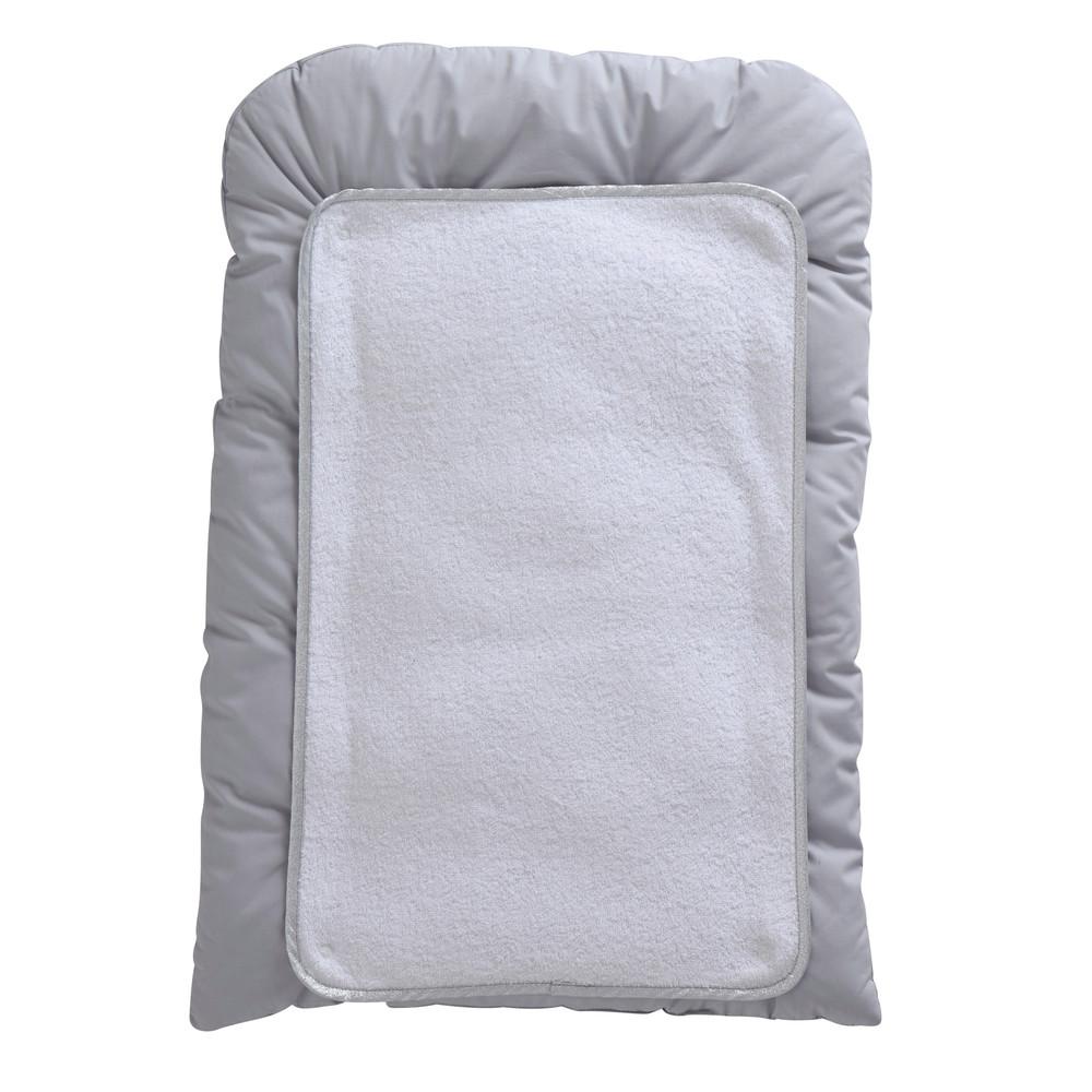 Matelas langer b b en coton blanc gris 52 x 70 cm songe for Table a langer largeur 52 cm