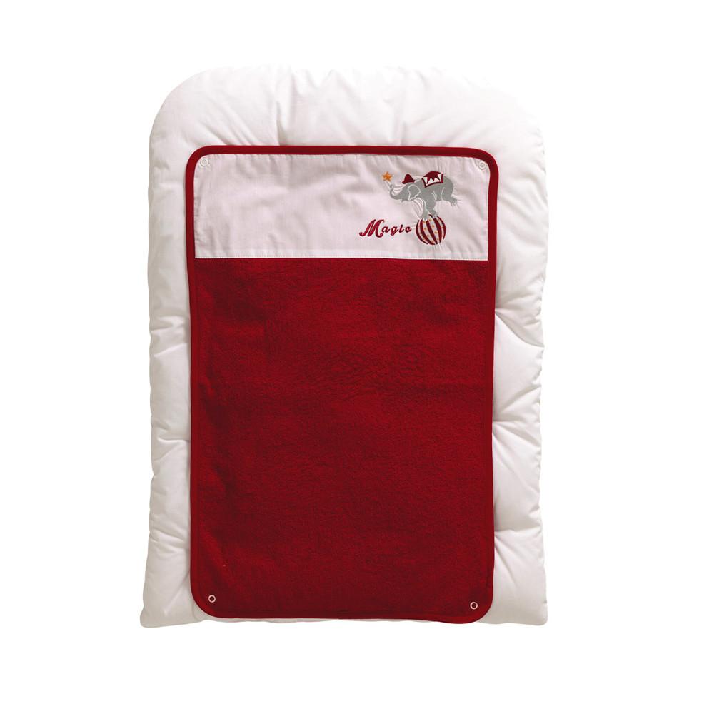 Matelas langer b b en coton rouge blanc 52 x 70 cm for Table a langer 52 cm