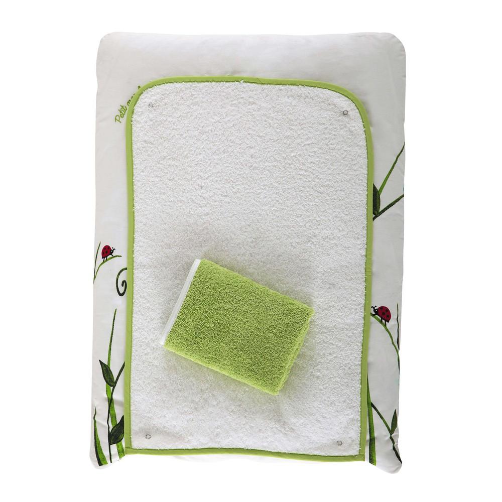 Matelas langer b b en coton vert 52 x 70 cm lovely for Table a langer 52 cm