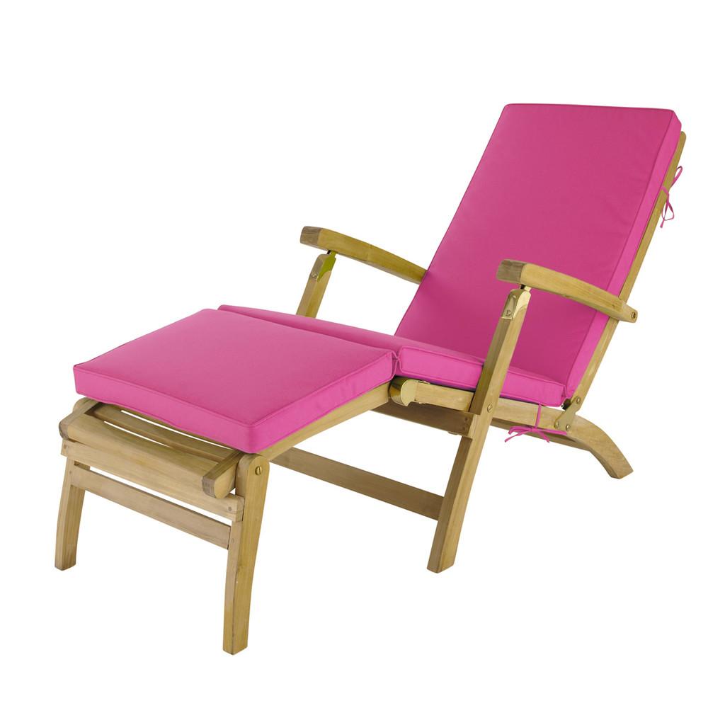 matelas chaise longue fuchsia l 185 cm ol ron maisons du monde. Black Bedroom Furniture Sets. Home Design Ideas