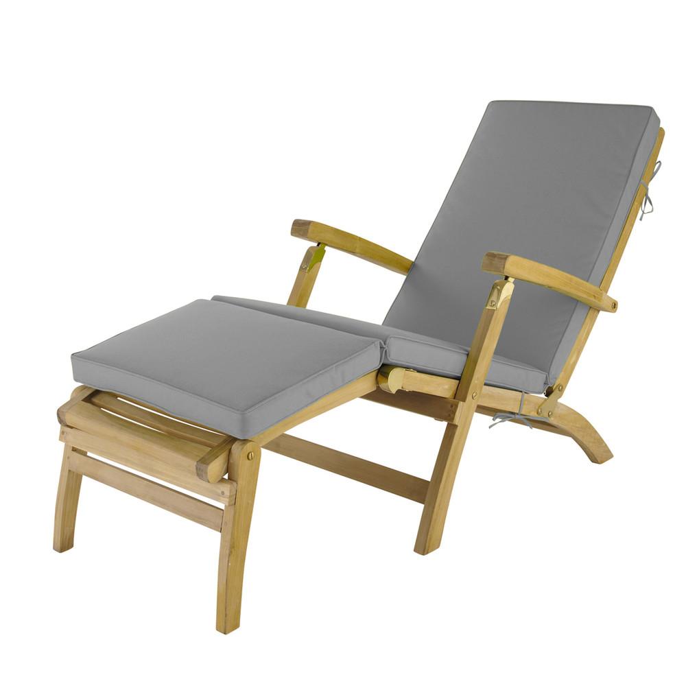 Matelas chaise longue gris l 185 cm ol ron maisons du monde - Matelas maison du monde ...
