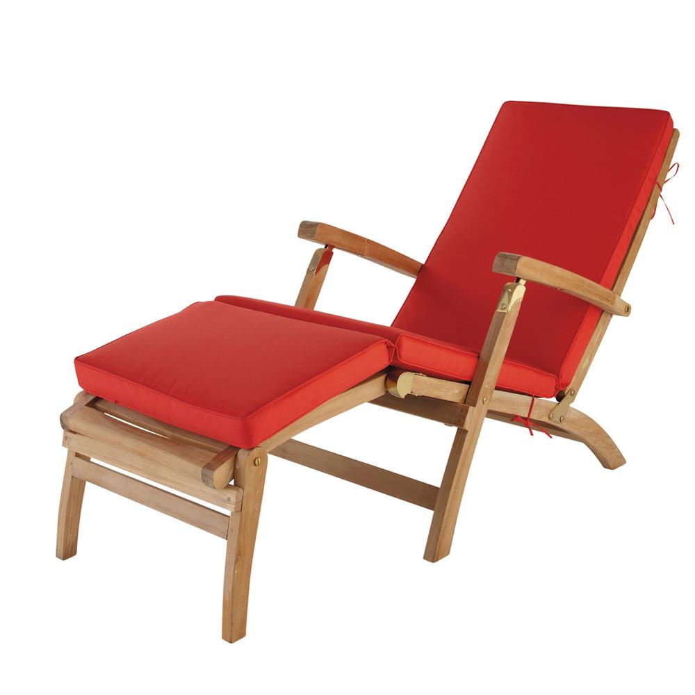matelas chaise longue rouge l 185 cm ol ron maisons du monde. Black Bedroom Furniture Sets. Home Design Ideas