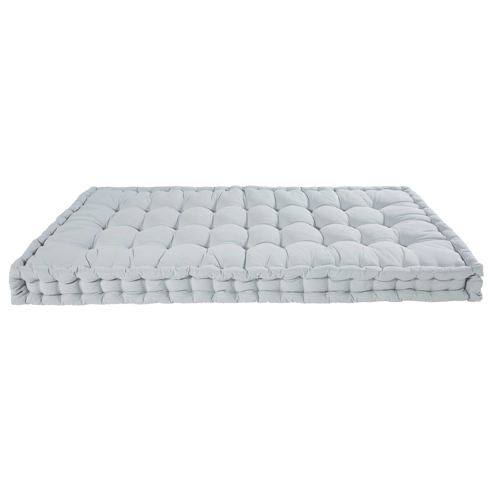matelas en coton bleu clair 90x190cm maisons du monde. Black Bedroom Furniture Sets. Home Design Ideas