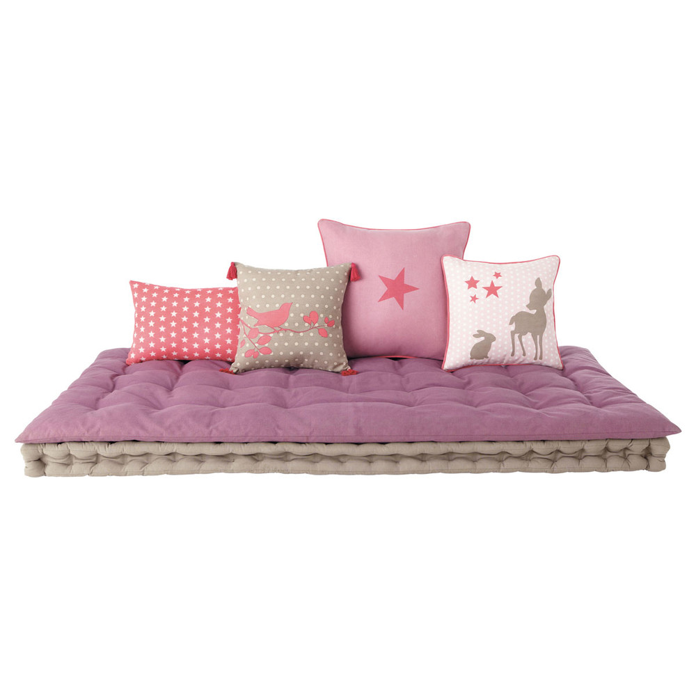 matelas enfant en coton mauve 90 x 190 cm maisons du monde. Black Bedroom Furniture Sets. Home Design Ideas