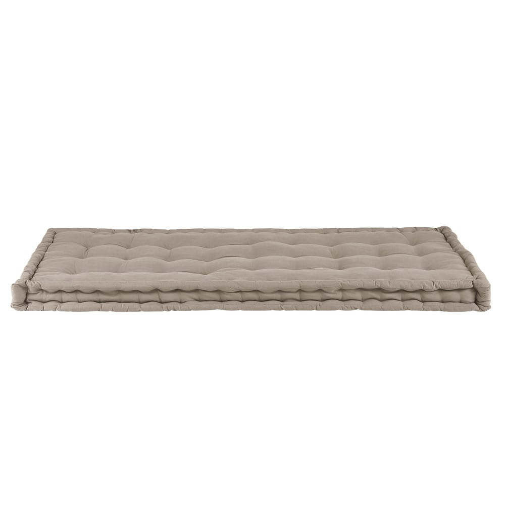 matelas enfant en coton taupe 90x190 maisons du monde. Black Bedroom Furniture Sets. Home Design Ideas