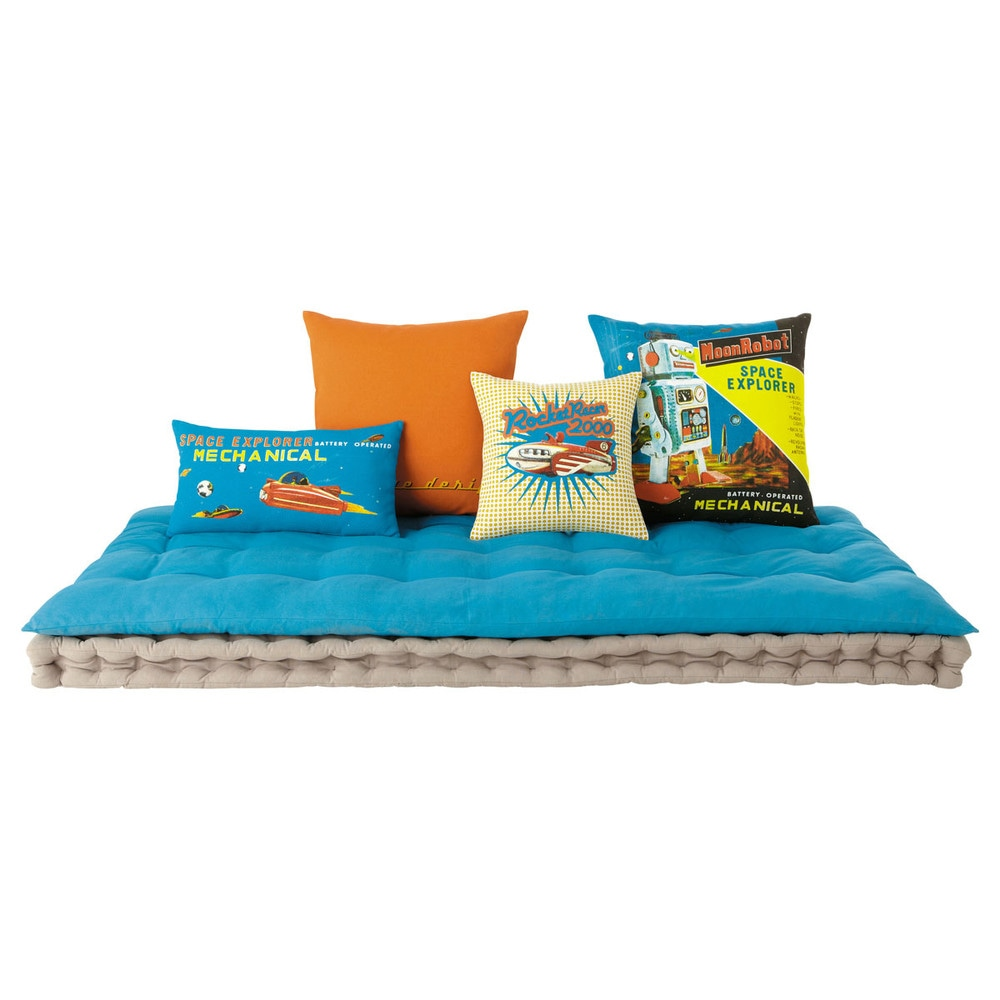 matelas enfant turquoise maisons du monde. Black Bedroom Furniture Sets. Home Design Ideas