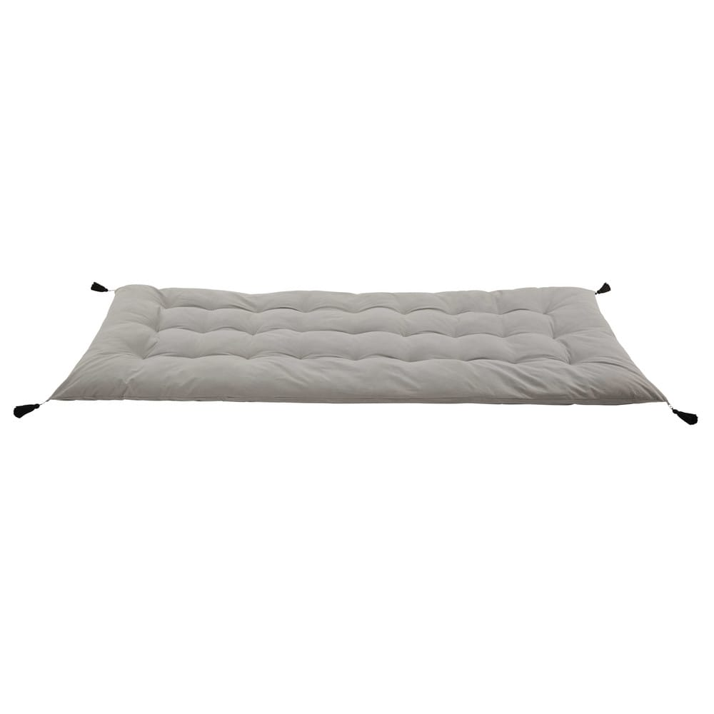 matelas gaddiposh en coton gris 90x190 maisons du monde. Black Bedroom Furniture Sets. Home Design Ideas