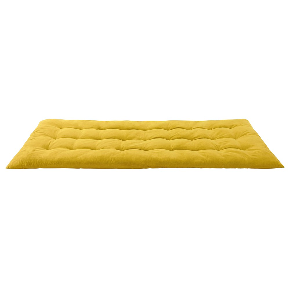 matelas gaddiposh en coton jaune 90x190 maisons du monde. Black Bedroom Furniture Sets. Home Design Ideas