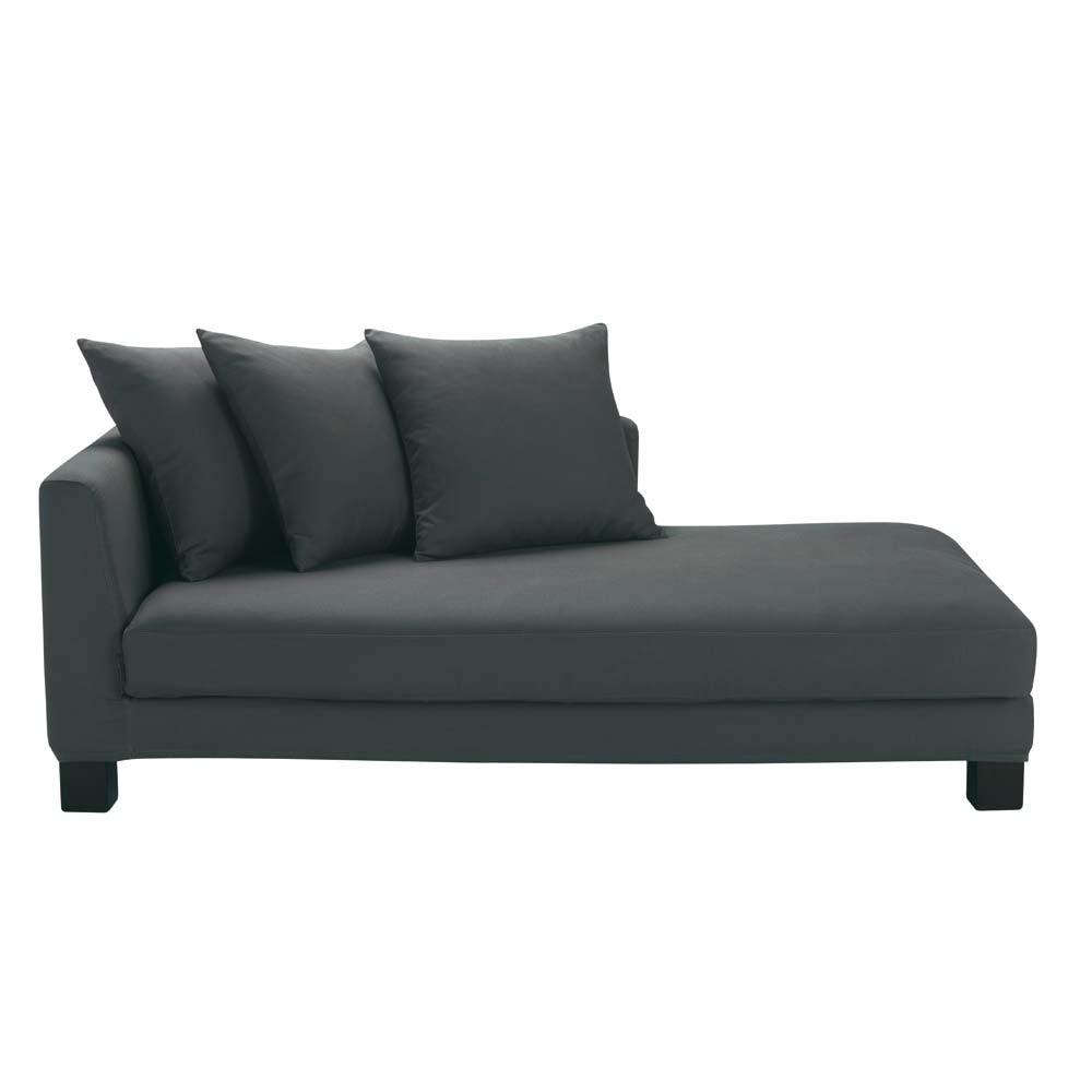 m ridienne en coton gris ardoise turenne maisons du monde. Black Bedroom Furniture Sets. Home Design Ideas