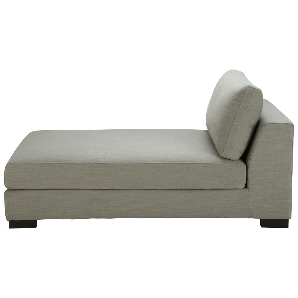 Accueil › meubles › Canapés › Méridienne en lin Monet gris