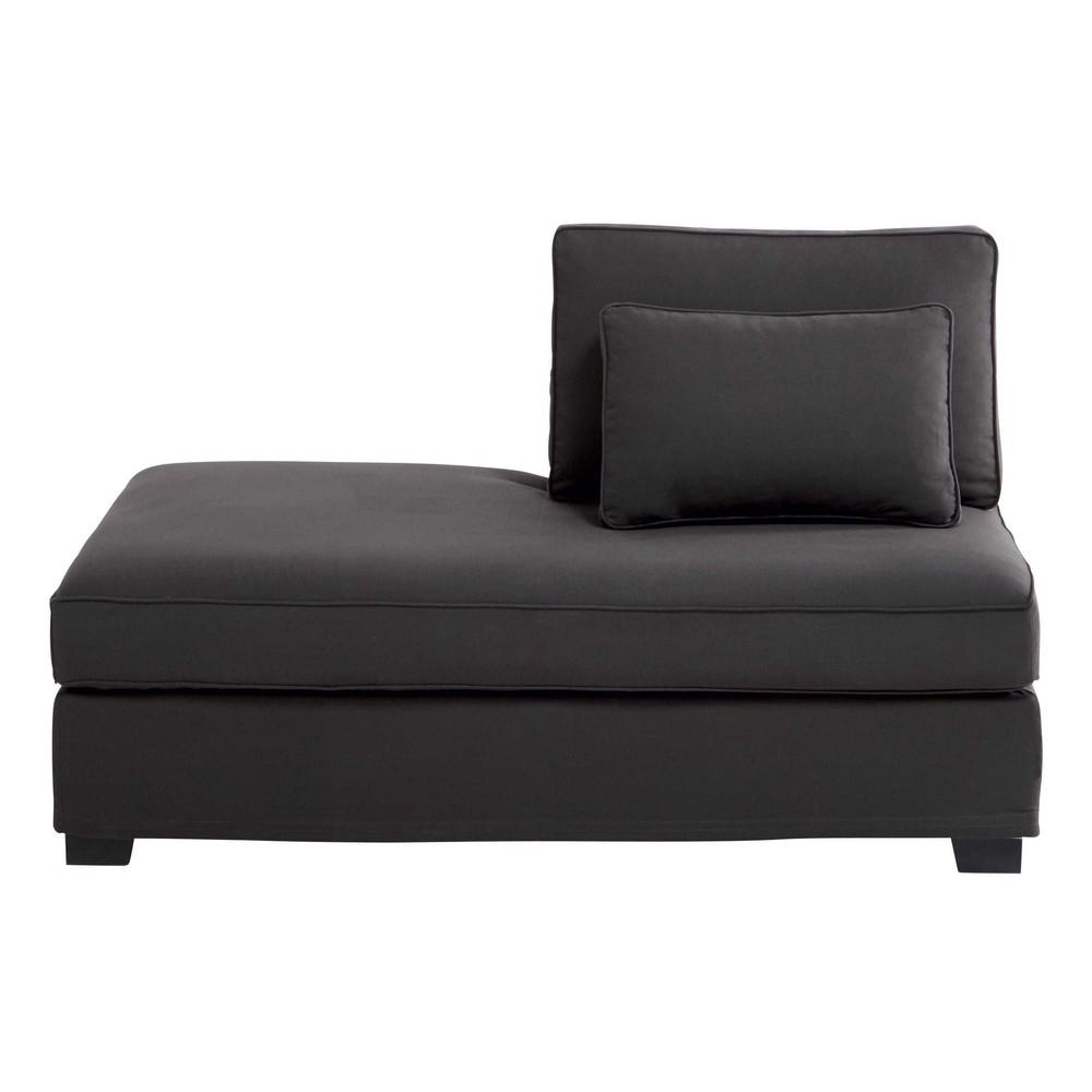 m ridienne gauche modulable en coton gris anthracite. Black Bedroom Furniture Sets. Home Design Ideas