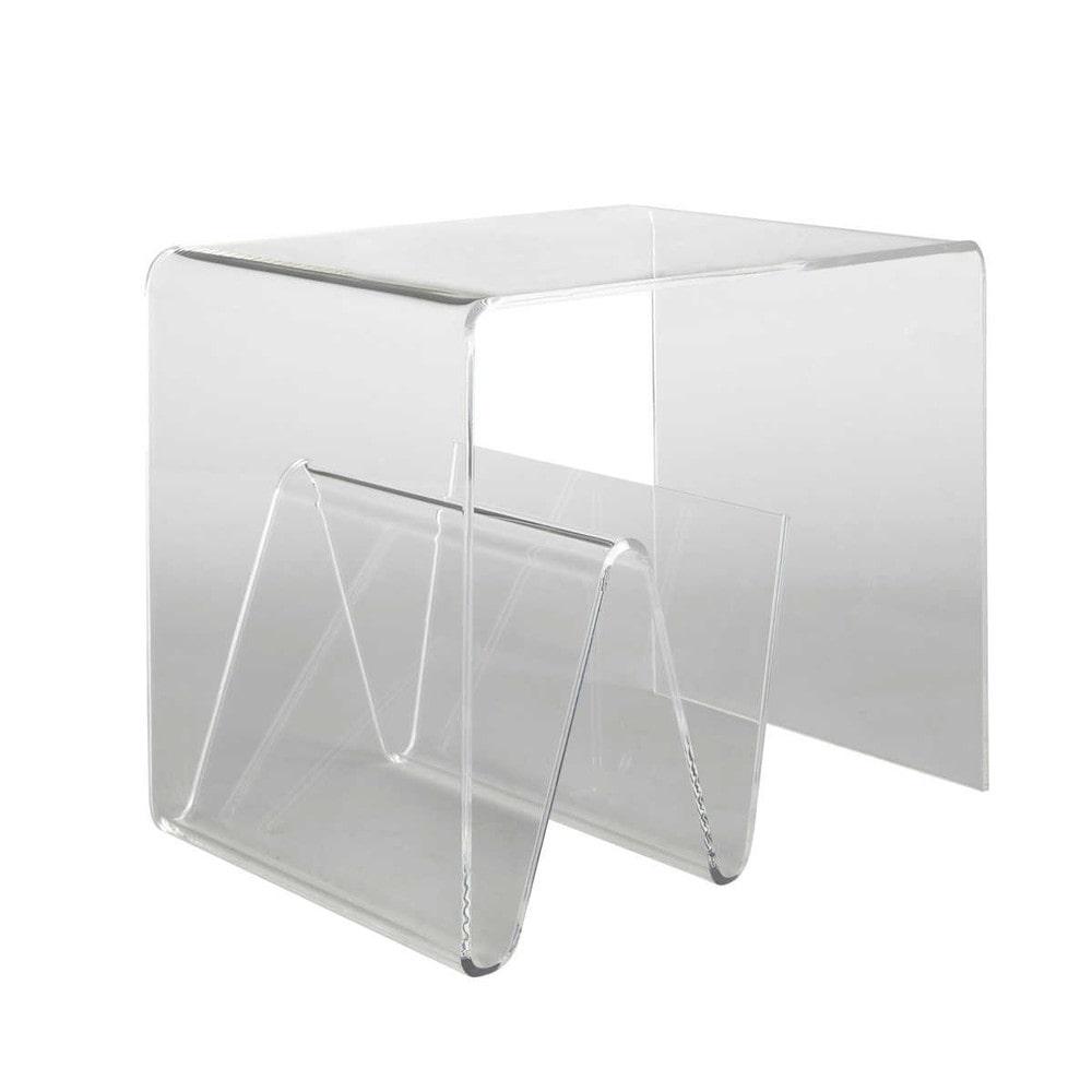 mesa auxiliar de metacrilato an 45 cm columbia maisons