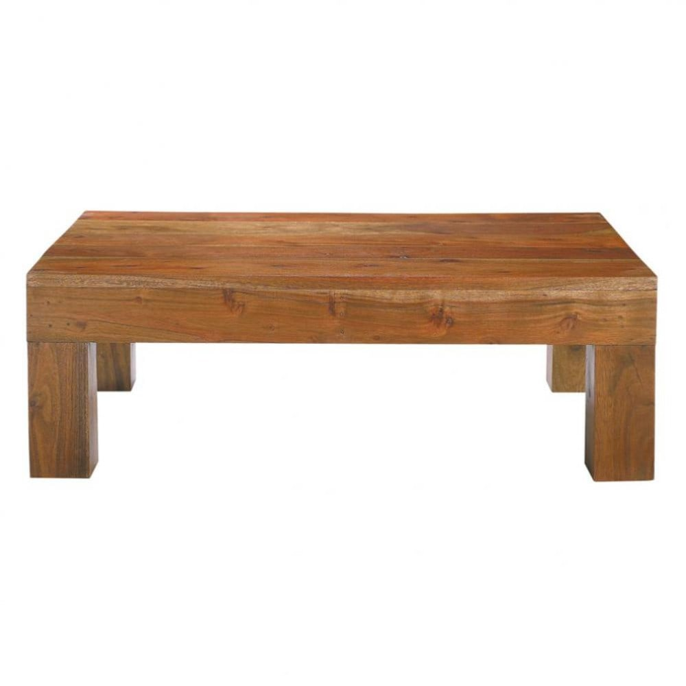 mesa baja de acacia maciza an 90 cm ceylan maisons du monde