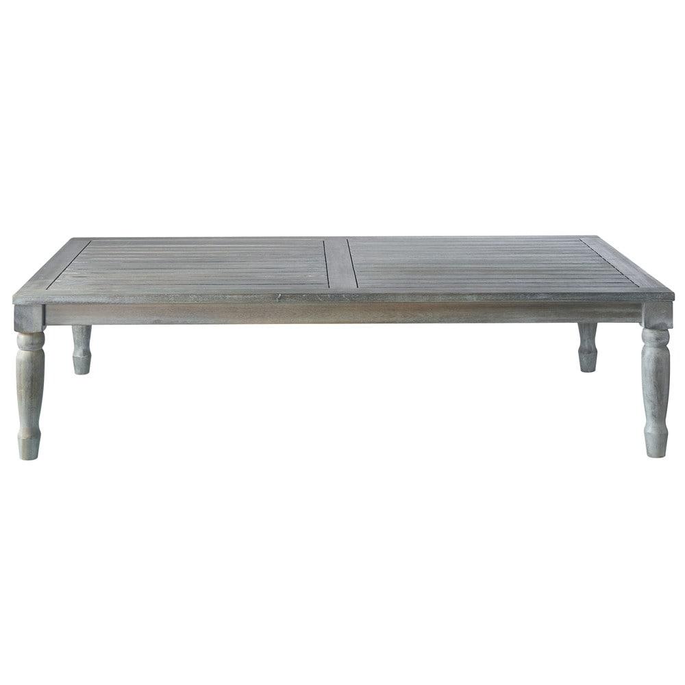 Mesa baja de jard n de acacia gris l 140 cm chypre for Mesa baja jardin