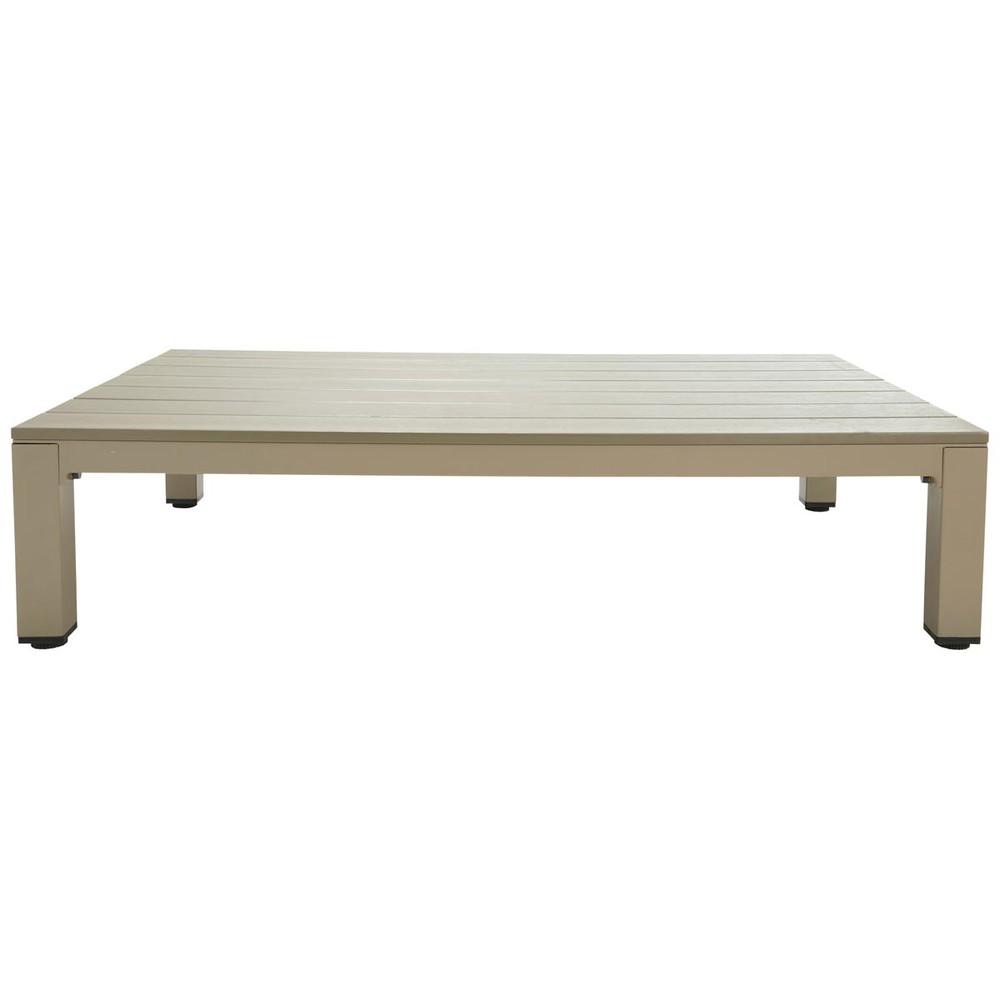 Mesa baja de jard n de material compuesto imitaci n de for Mesas de jardin de aluminio