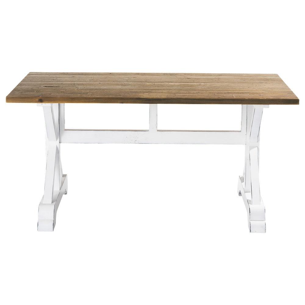 mesa de comedor con listones de madera reciclada an cm