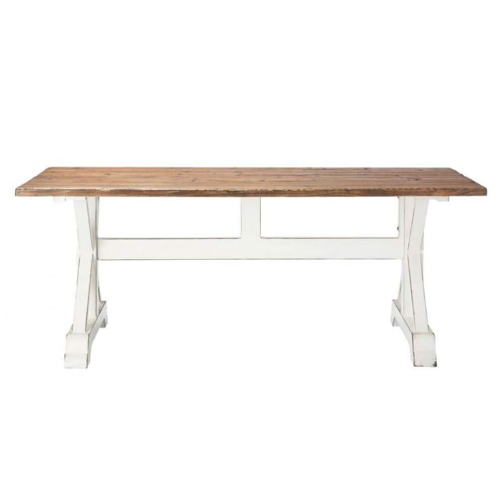 Mesa de comedor con listones de madera reciclada an 200 - Mesas madera reciclada ...