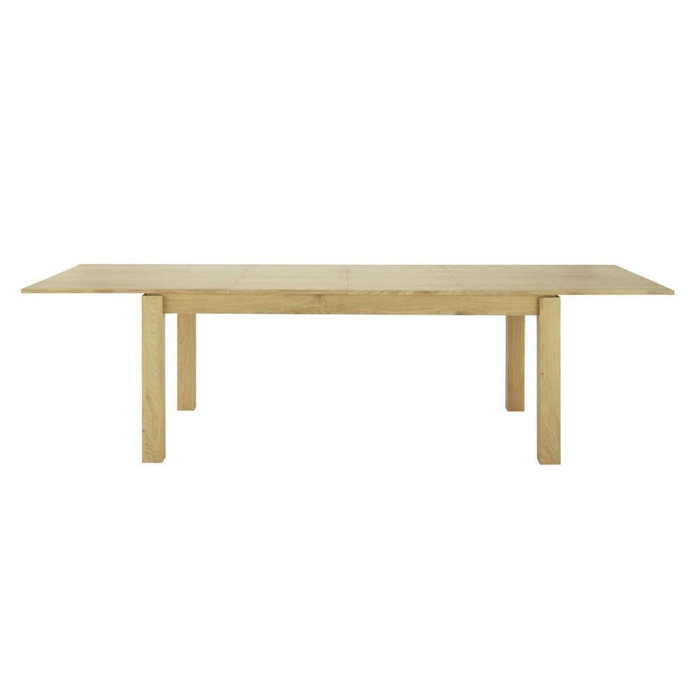 Mesa de comedor extensible de madera an 200 cm danube maisons du monde - Mesa extensible de madera ...