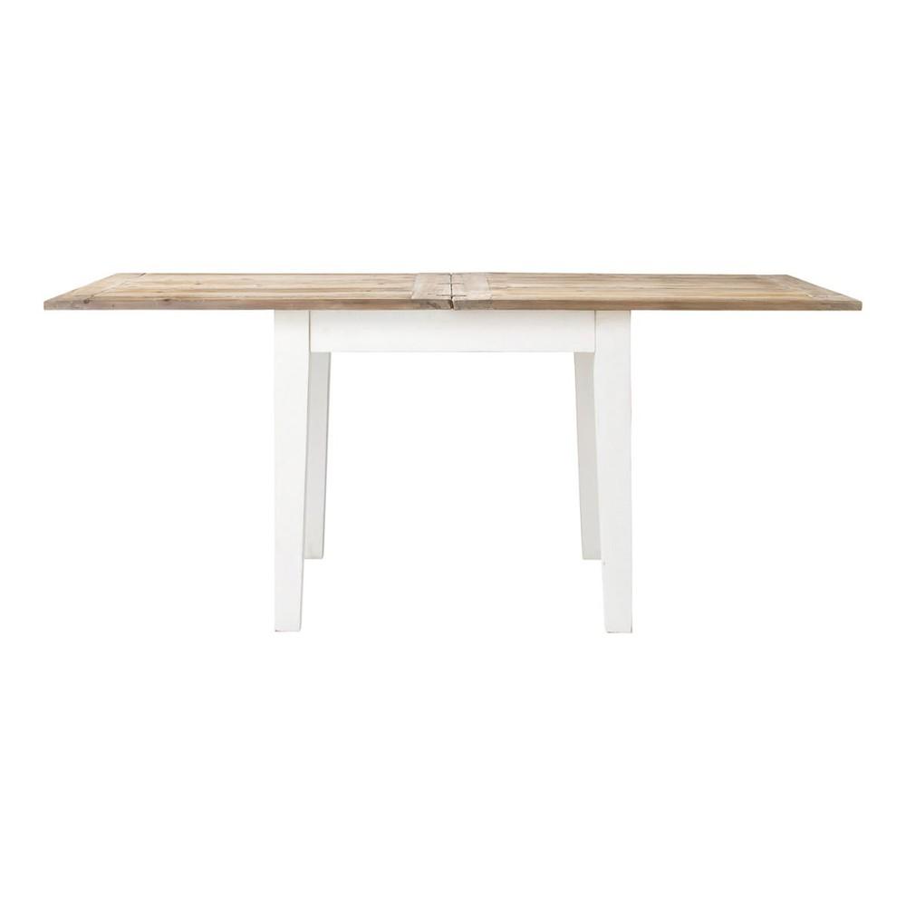 Mesa de comedor extensible de madera an 90 cm provence - Mesa madera extensible comedor ...