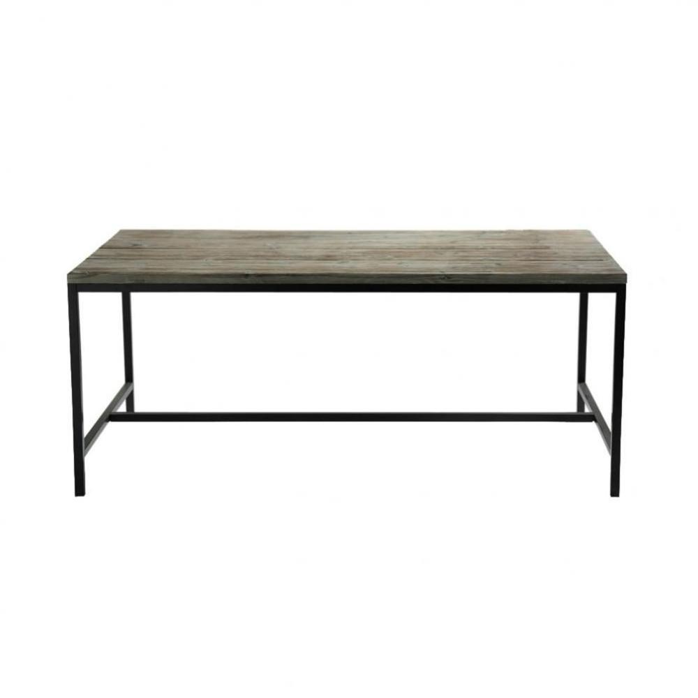 Mesa de comedor industrial de madera maciza y metal an for Mesa industrial de madera y metal