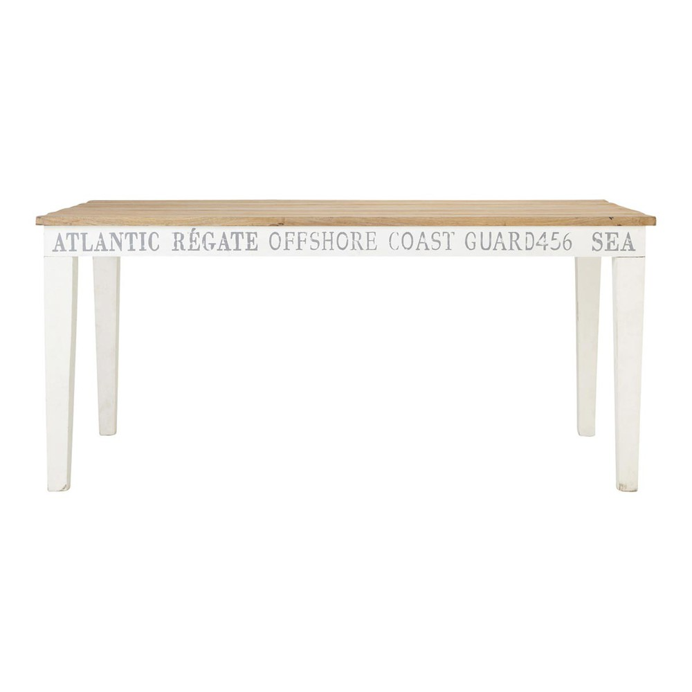 Mesa de comedor rectangular de madera baltique baltique for Mesa comedor rectangular madera