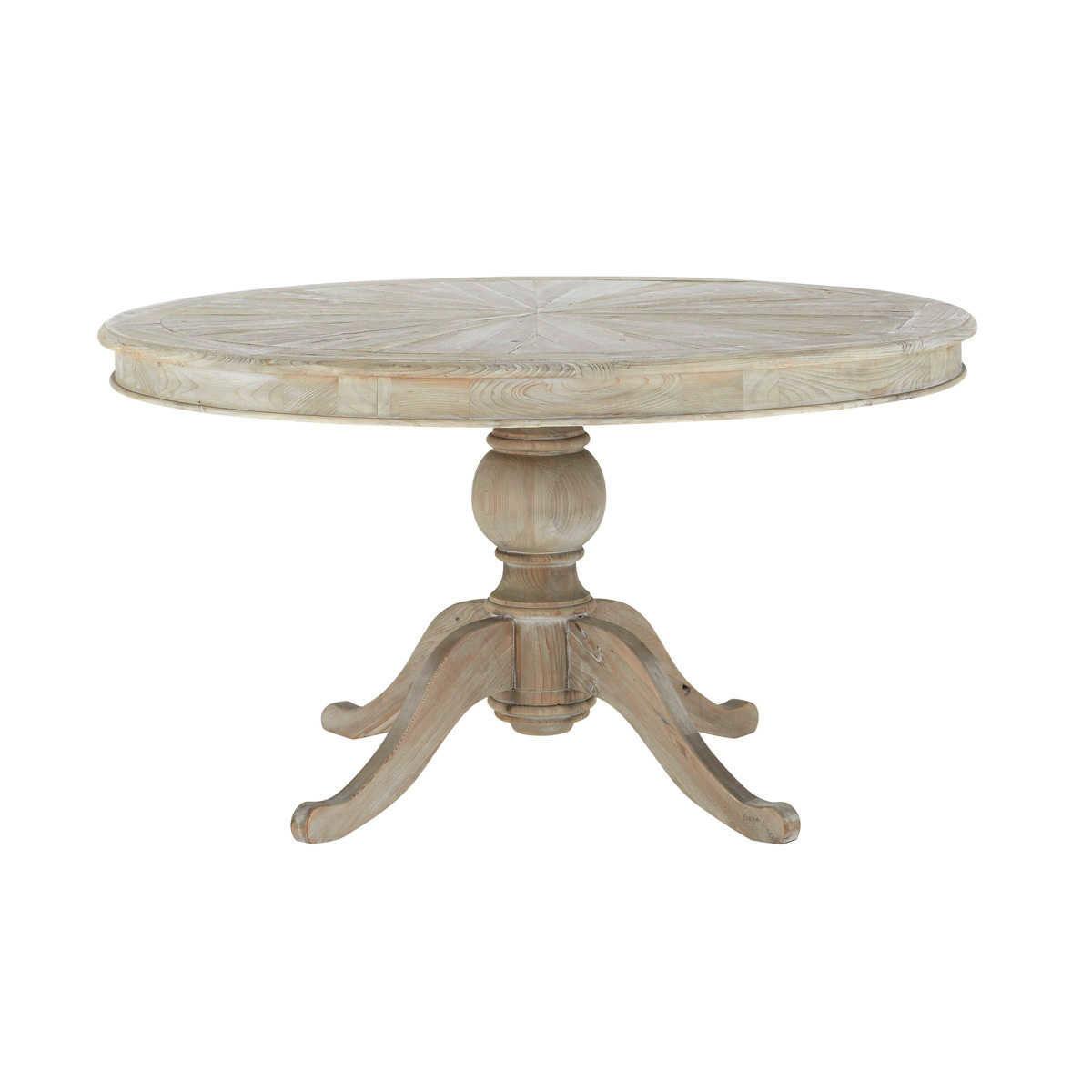 Mesa de comedor redonda de madera Diam. 140 cm   Maisons du Monde