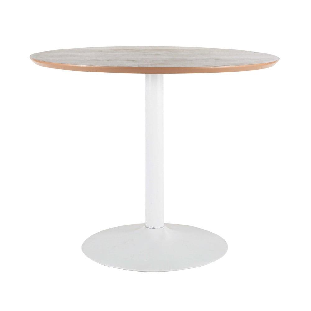 Mesa de comedor redonda de madera y metal diam 100 cm for Mesas redondas de madera