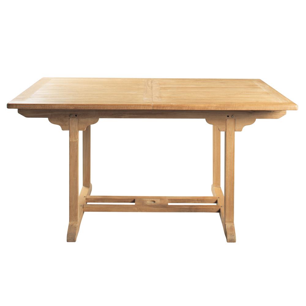 Mesa de jard n de teca maciza l 150 cm ol ron maisons - Mesa de teca ...