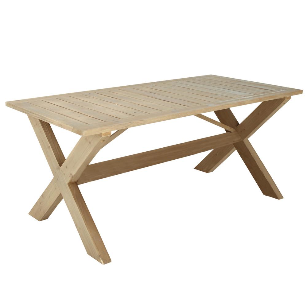 Mesa para jard n rectangular madera lacanau lacanau for Table jardin maison du monde